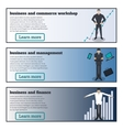Flat horizontal banners on the theme of business vector image