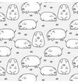 hand drawn cute pig pattern vector image