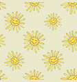 pattern with happy sun vector image