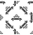 railroad icon seamless pattern on white background vector image