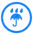 rain protection rounded grainy icon vector image