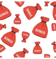 Seamless pattern - bonus bag vector image