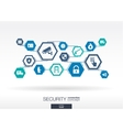 Security network Hexagon abstract background vector image