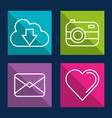 social media and applications internet square vector image