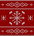 Knit pattern model vector image vector image