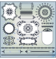 ornamental pattern on blue background vector image
