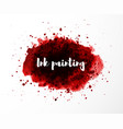 abstract grunge red splash blood splatter on vector image