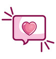 speech bubble with heart love vector image