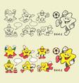 Superstar cartoon icons vector image vector image