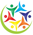 Teamwork people swoosh logo vector image vector image