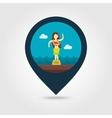 Hula Dancer Statuette pin map icon Vacation vector image