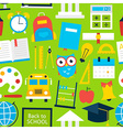 Green Tile Pattern Back to School vector image