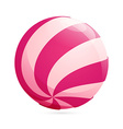 Abstract sphere candy logo vector image