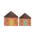 African Local Houses Realistic Simplified Drawing vector image
