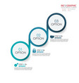 circle arrows infographics set element vector image