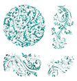 flourish collection of patterns for your design vector image