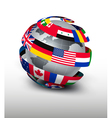 Globe made of a strip of flags vector image