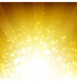 Golden Background With Sunburst And Stars vector image