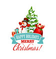 merry christmas holiday greeting card vector image