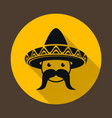 Mexican with sombrero vector image