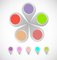Colorful round pin pointer vector image