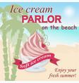 Ice cream parlor on the beach vector image