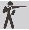 2266 shooting icon vector image