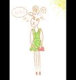 pencil drawn goat vector image