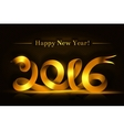 Gold happy new year ribbon on dark background vector image