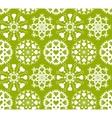 Heart snowflake seamless pattern Christmas vector image