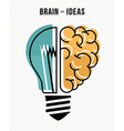 Brain and ideas business concept vector image