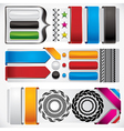 Set of web design elements vector image