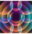 Abstract vibrant background with circles vector image
