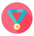Award Medal Circle Icon vector image