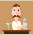 barman vector image