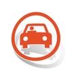 Car sign sticker orange vector image