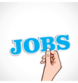 jobs word in hand vector image