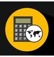 map world business calculator design vector image