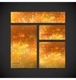 set of visual corporate identity with orange vector image