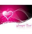 Shiny heart background vector image