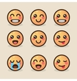 style kawaii emoticons with vector image