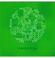Thin Line Saint Patrick Day Icons Set Circle vector image