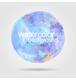 Watercolor round stain background blue vector image
