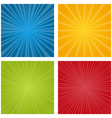 Set of rays vector image