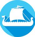 Viking Ship Icon vector image