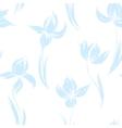 Garden flowers seamless pattern background vintage vector image