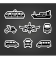 Set of stickers transport signs vector image vector image