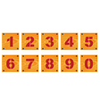 Wooden signs with numbers vector image vector image