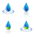 Water Drop and Green Leaf vector image vector image