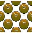 Cartoon kiwi fruits seamless pattern vector image vector image